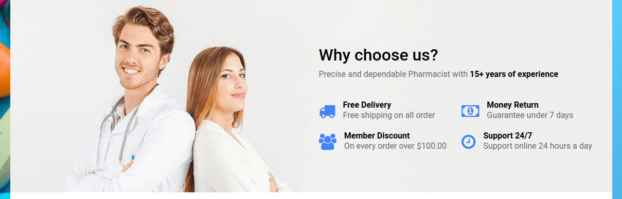 Joomla Pharmacy site section benefits