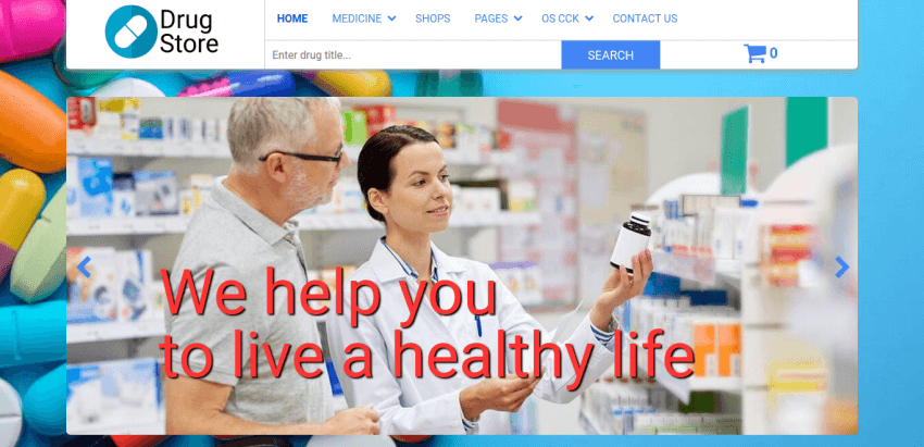 Drugstore Joomla pharmacy template with OS Touch Slider