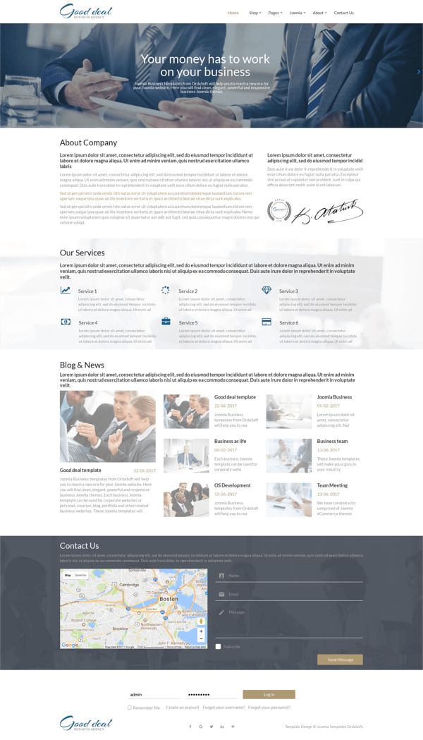 Good deal, Business Joomla template