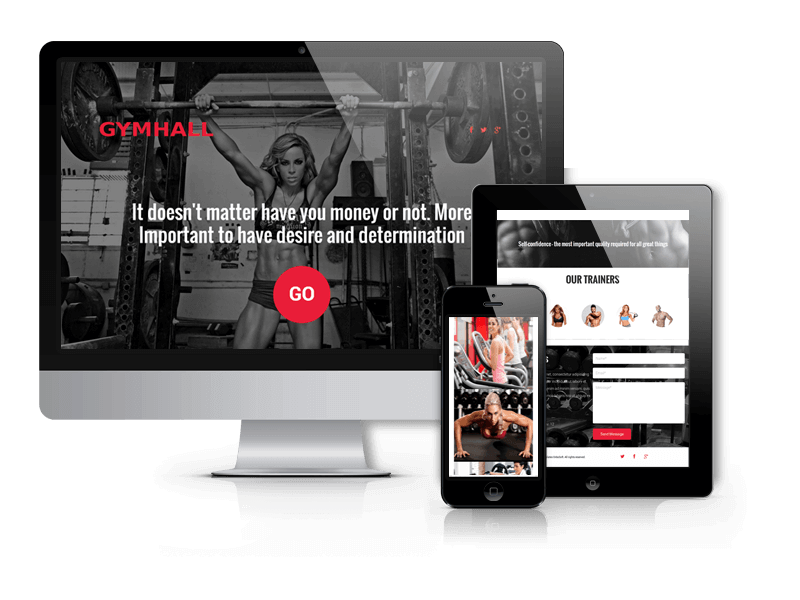 GymHall - Joomla sport template with K2 blog