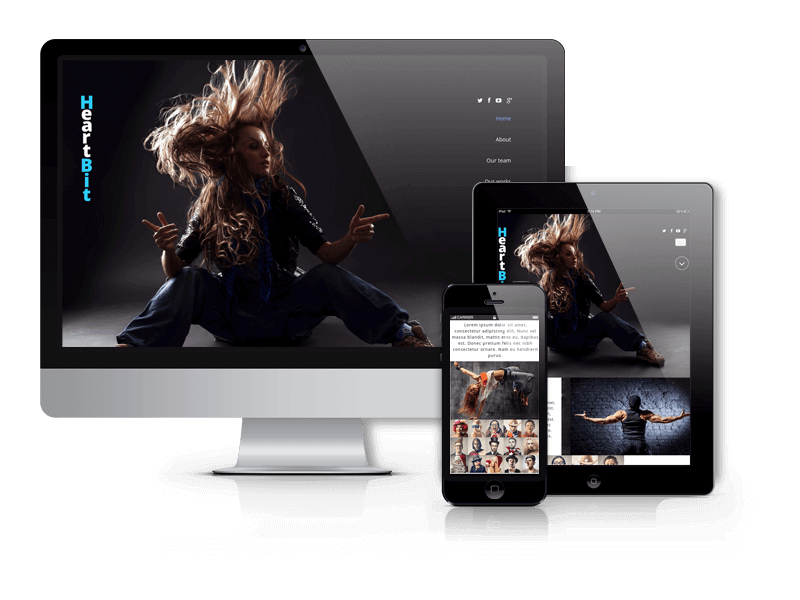 Creative One Page Joomla Template HeartBit