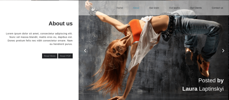 HeartBit Joomla creative template, section about us