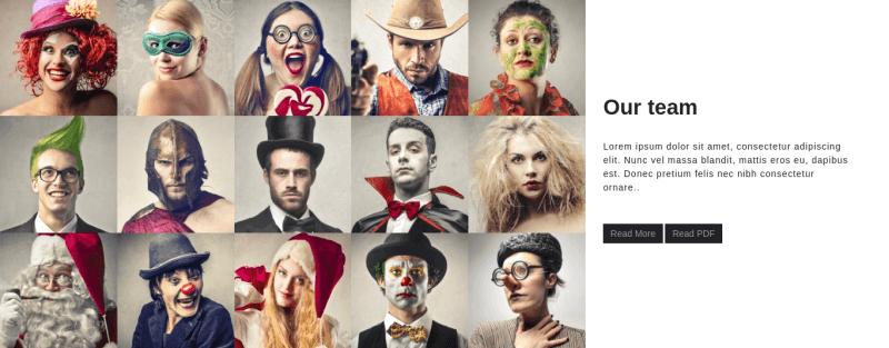 HeartBit Joomla creative website template, section our team