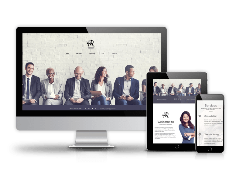 Joomla recruitment template Human Resource Management