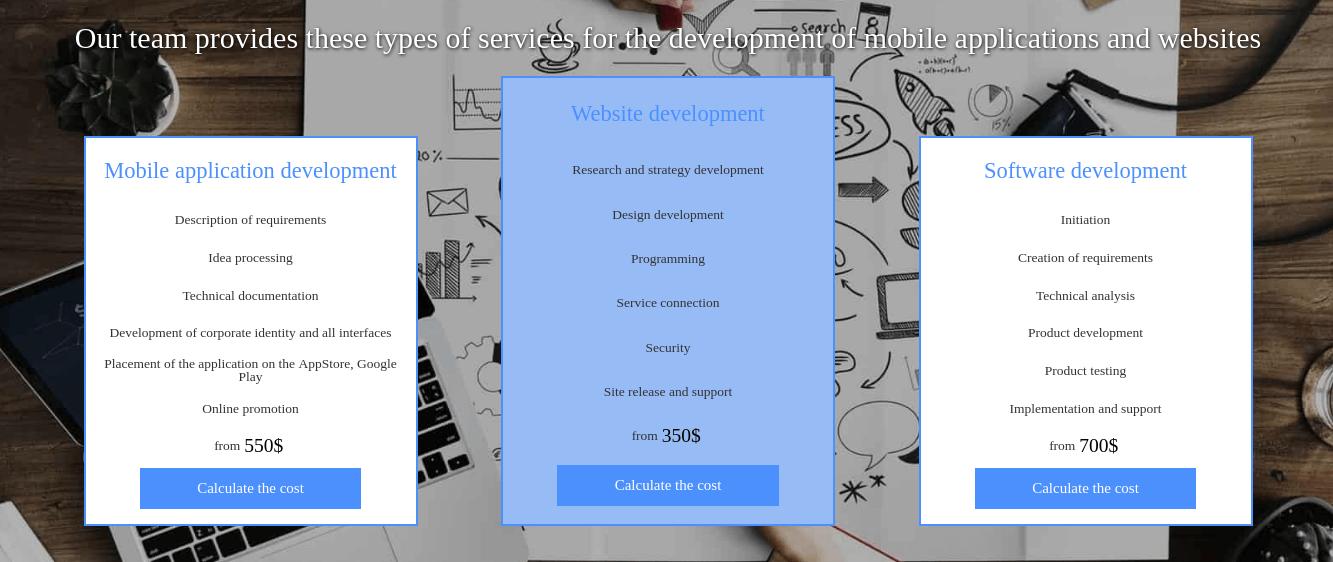 Portfolio Joomla Template services