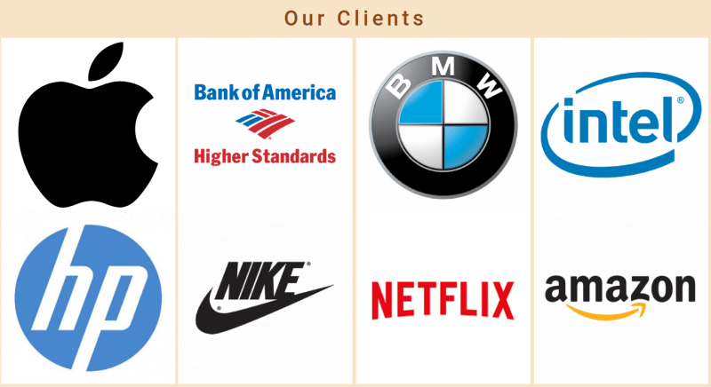 Justice. Create law website. Section our clients