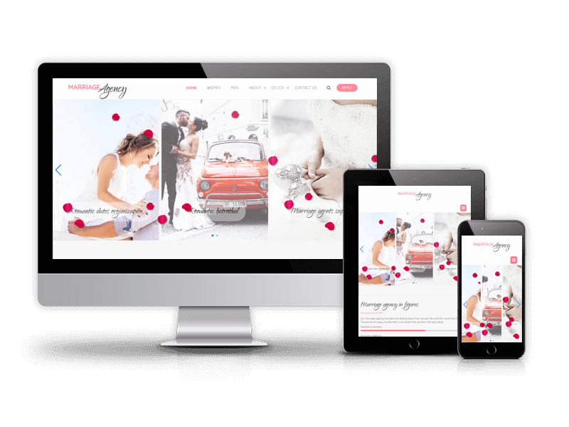 Marriage agency - Joomla wedding template
