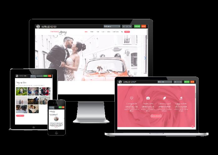 Marriage agency - wedding website template demo