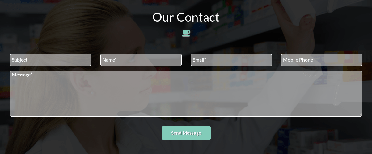 Contacts in Medical Joomla Template