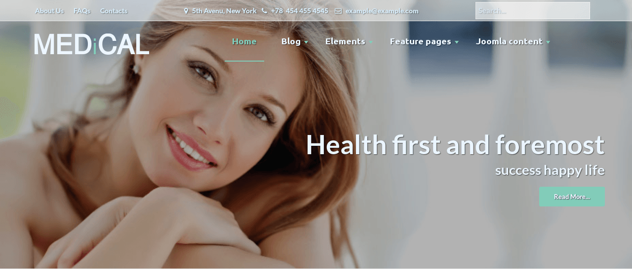 Slideshow in Medical Joomla template
