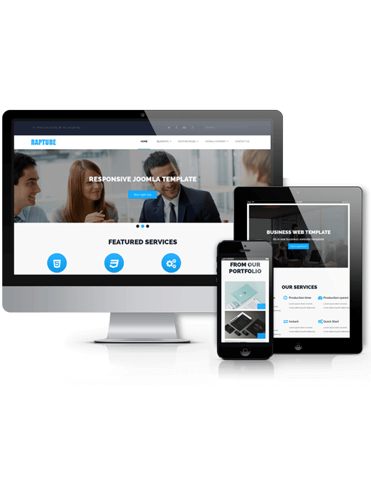 Joomla business template Rapture