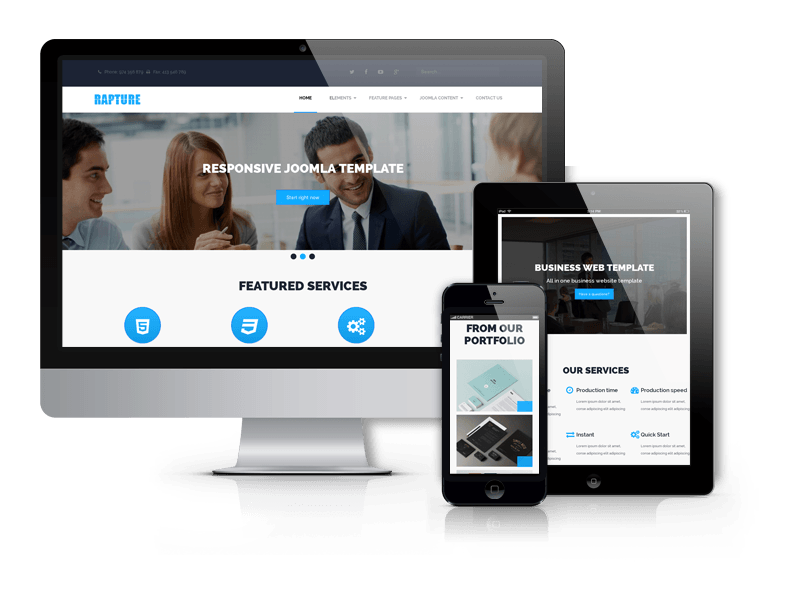 Best Business Joomla template 2015 from OrdaSoft - Rapture