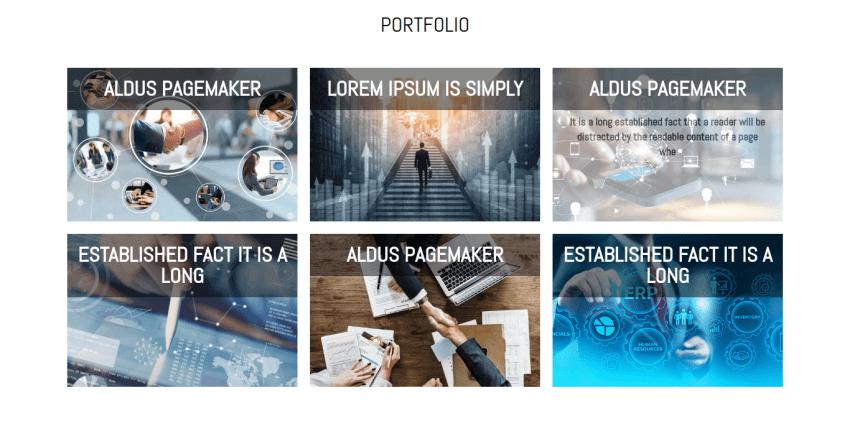 free portfolio web template