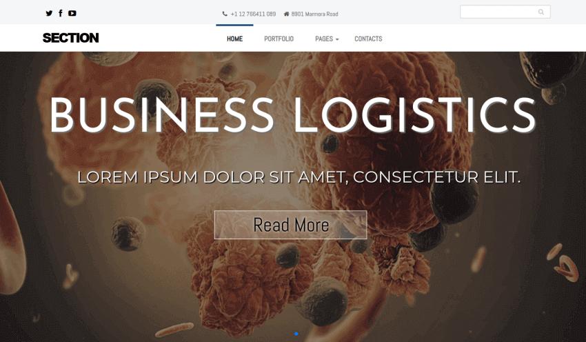 image carousel with animate text, portfolio joomla template