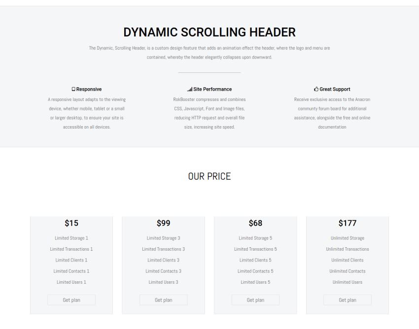 subscriptions, free joomla template portfolio