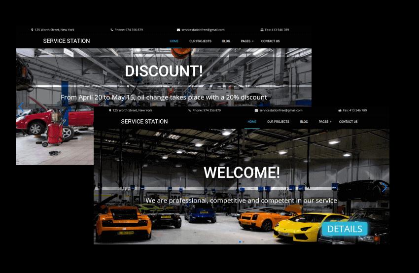 car repair site template with image carousel