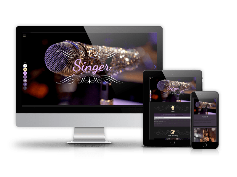 Business Joomla template Singer