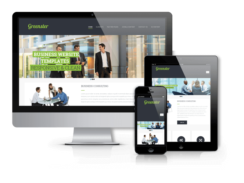 Joomla business template Greenster for create business website