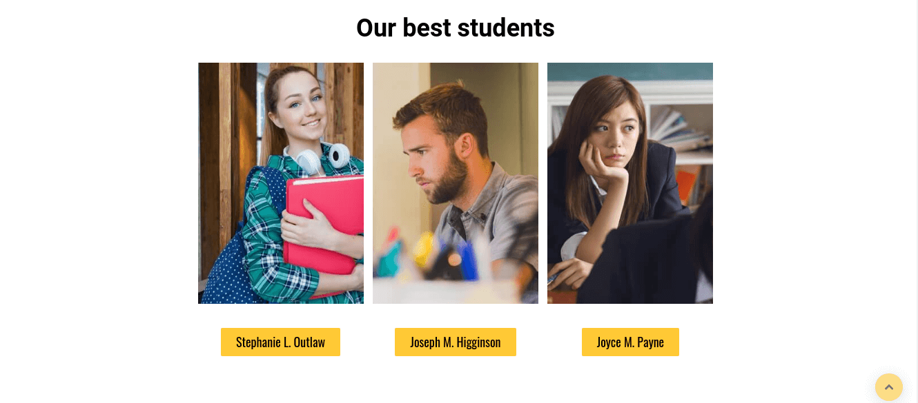 Web University, education website design, best students of university