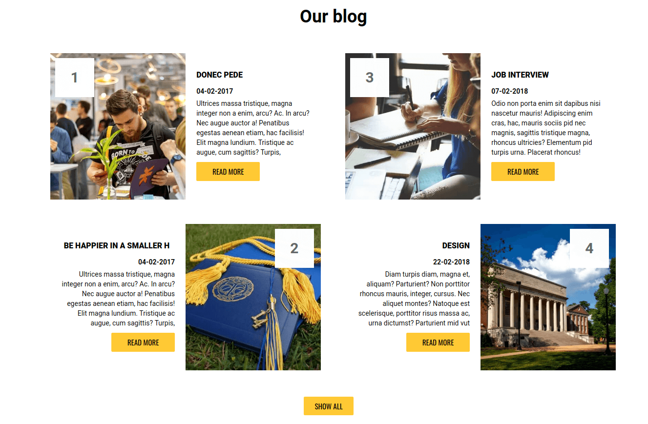 web university, education website template for create education website, university blog