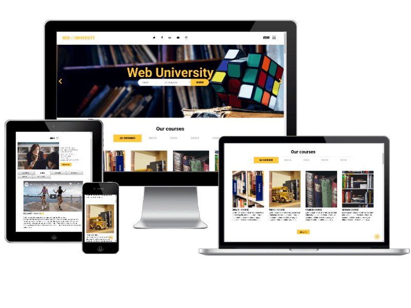 web university - education website template