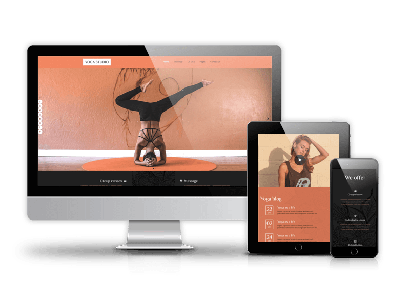Yoga Studio - Joomla gym template
