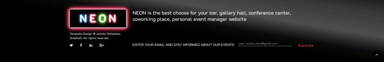 Club Website Template contact form