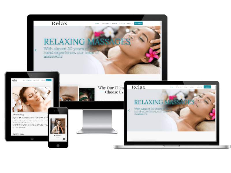 Relax, responsive beauty salon website template