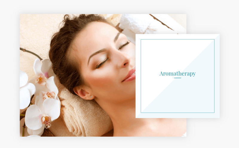 Spa services - Section Aromatherapy in Beauty salon website template