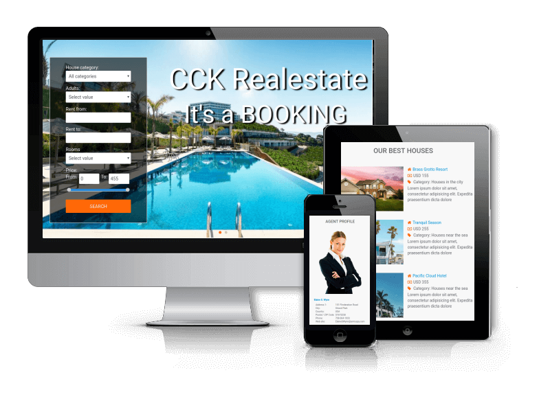 booking website builder template - real estate booking