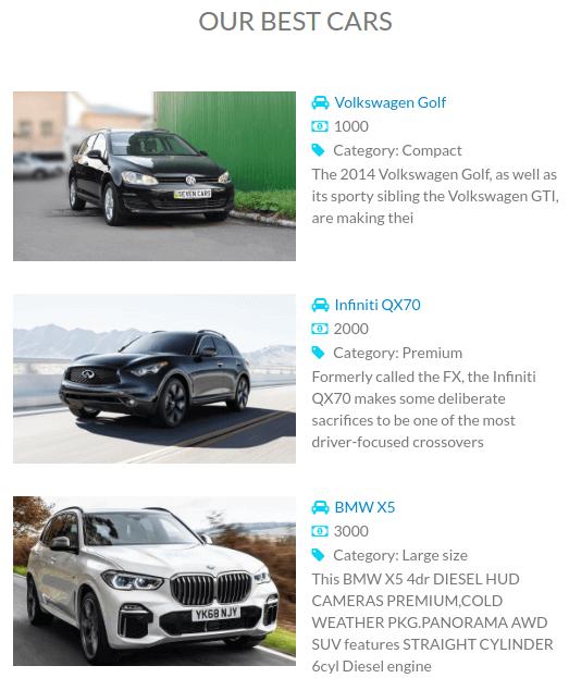 Vehicle booking, Car rental website template,demonstrate Best car lease deals