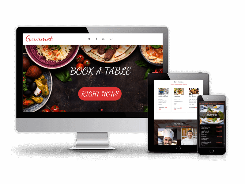 Gourmet - Restaurant Website Template