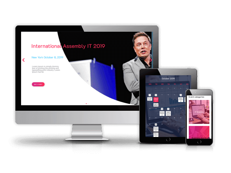 Event IT - CCK Events, Joomla Template