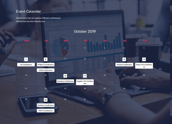 Event IT - CCK Event template, Joomla Template, Calendar of Events