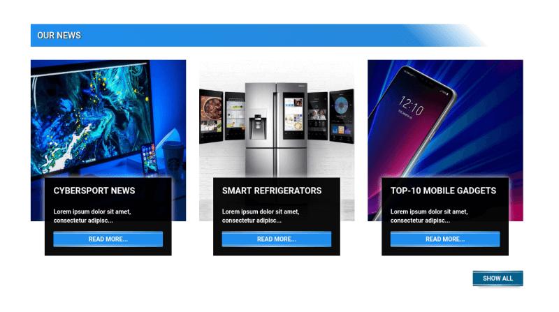 Gadgets Store - OS CCK templateour news