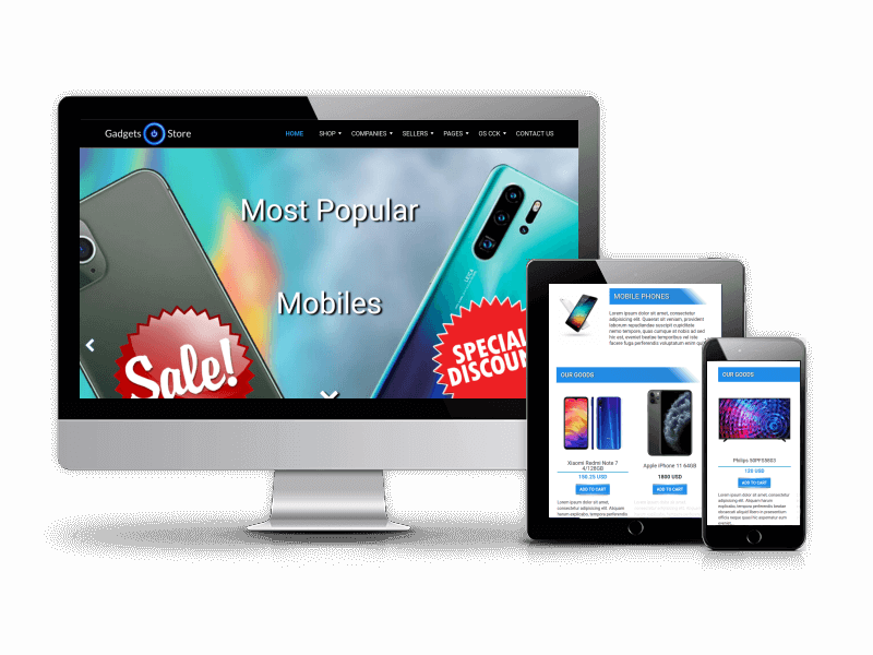 gadgets store joomla eCommerce template