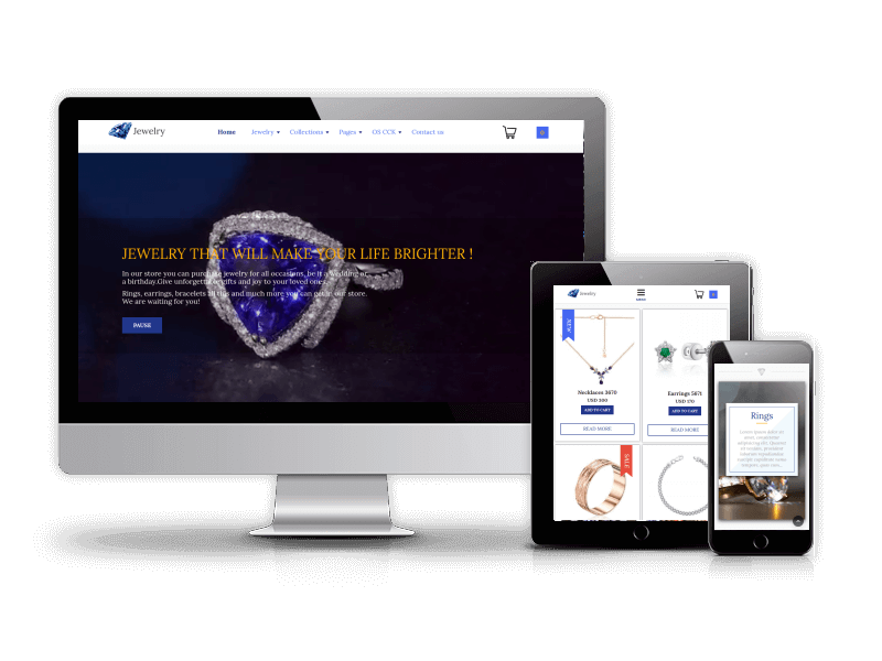 Jewelry - Joomla eCommerce template