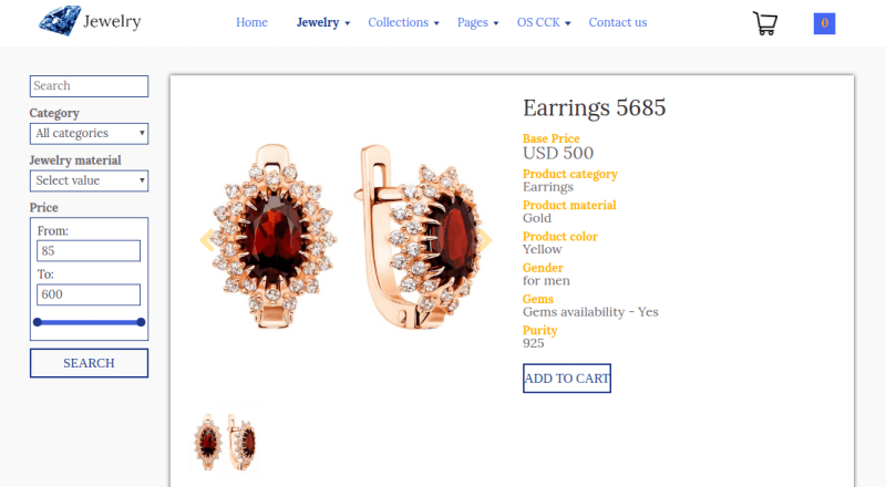 jewelry_joomla ecommerce template add product to cart