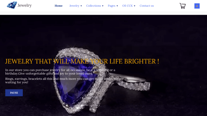 jewelry_joomla ecommerce template main page