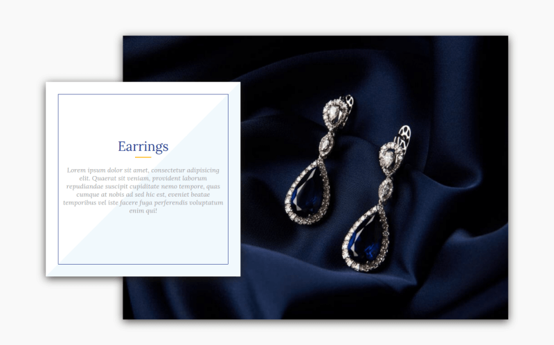 jewelry joomla ecommerce template section all categories earrings