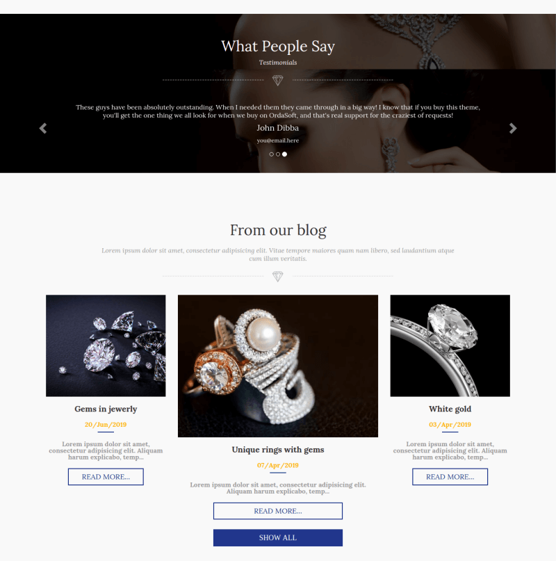 jewelry_joomla ecommerce template section our blog