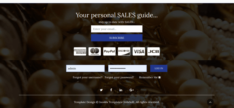 jewelry joomla ecommerce template section personal sales guide