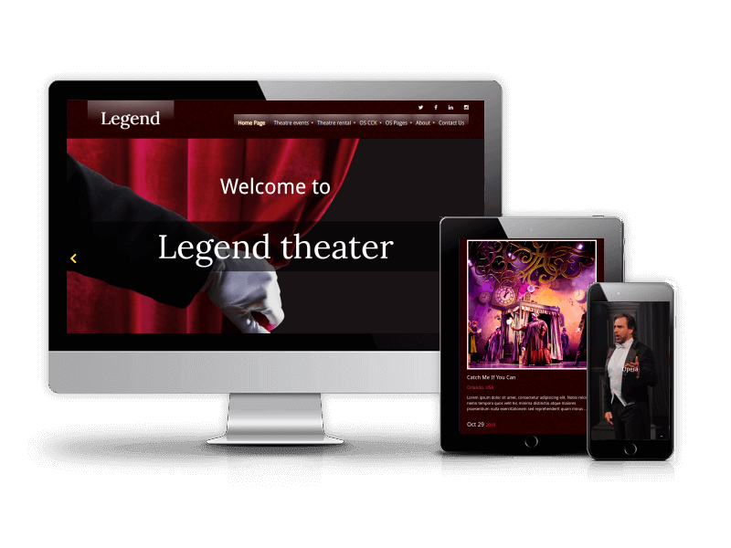 Joomla Event Template Legend for create event website