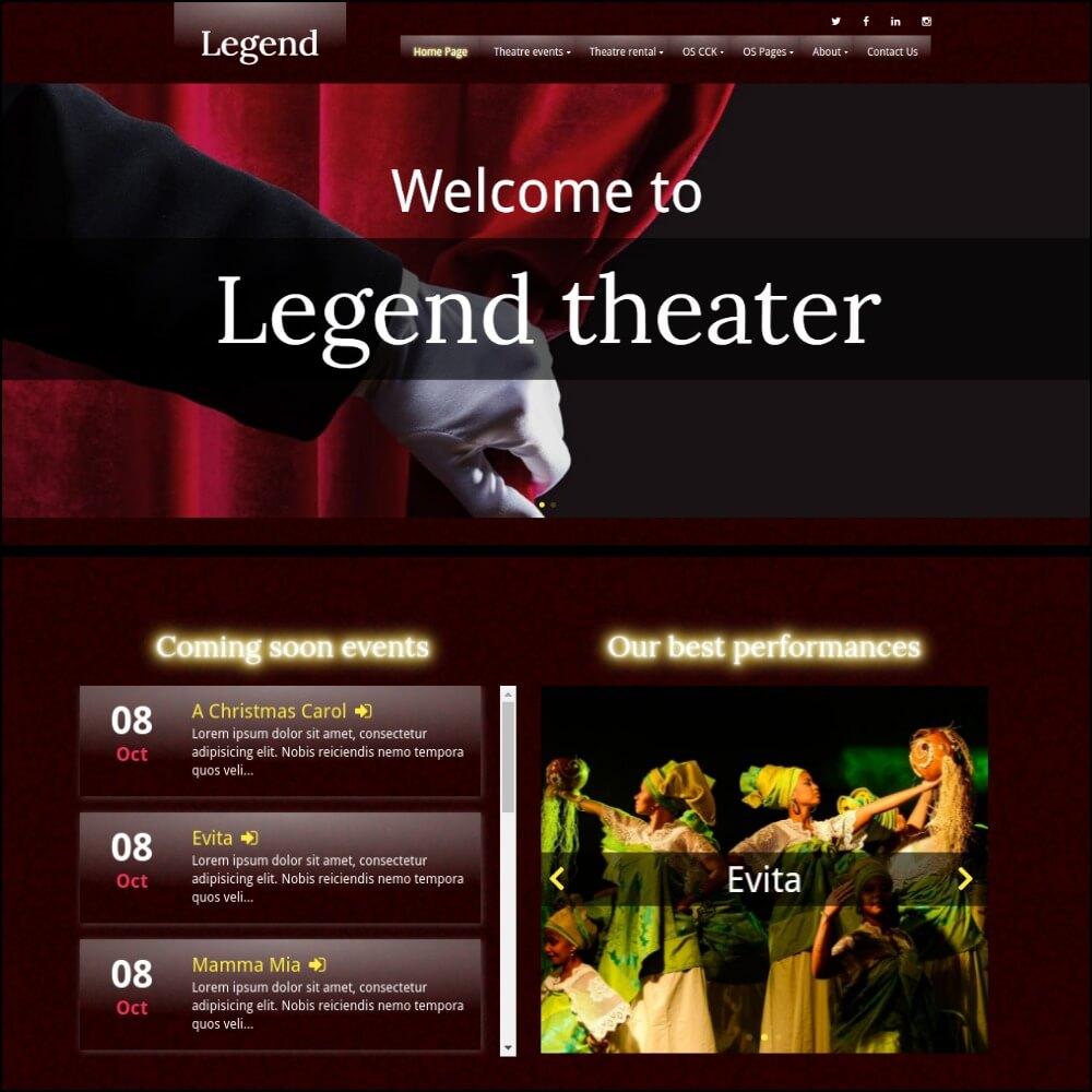 Event joomla template build on CCK event website builder