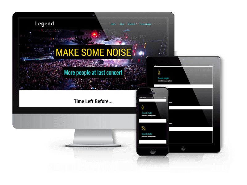 Event WordPress theme Legend