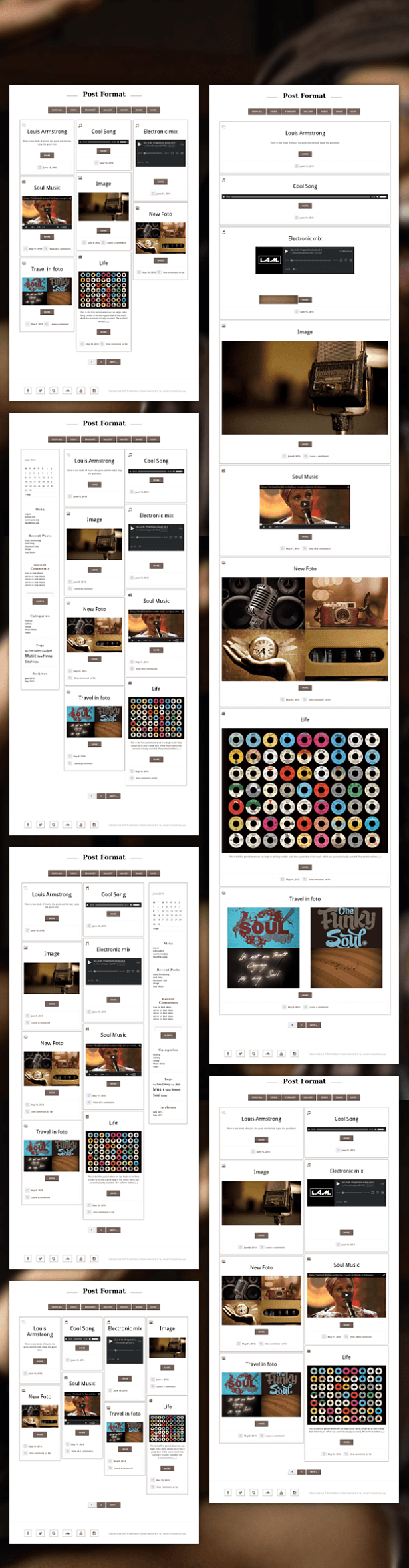 6 Home Layouts of Personal Blog Wordpress Theme Artist
