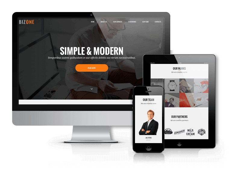 BizOne - one page wordpress theme