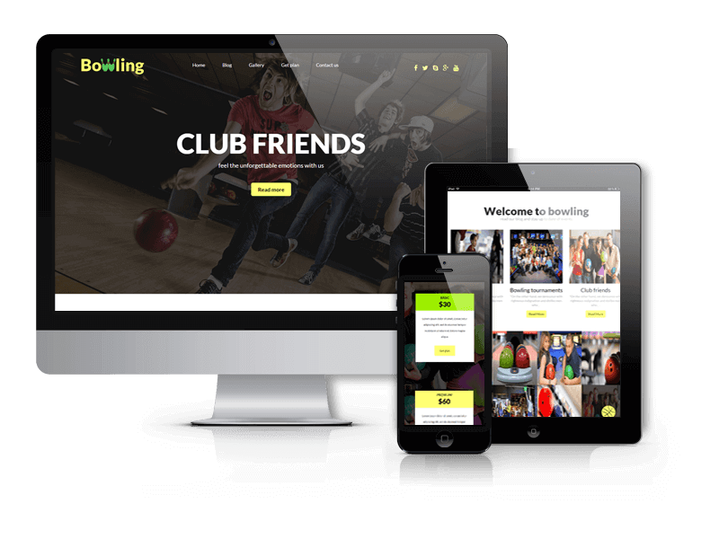Bowling, free WordPress theme