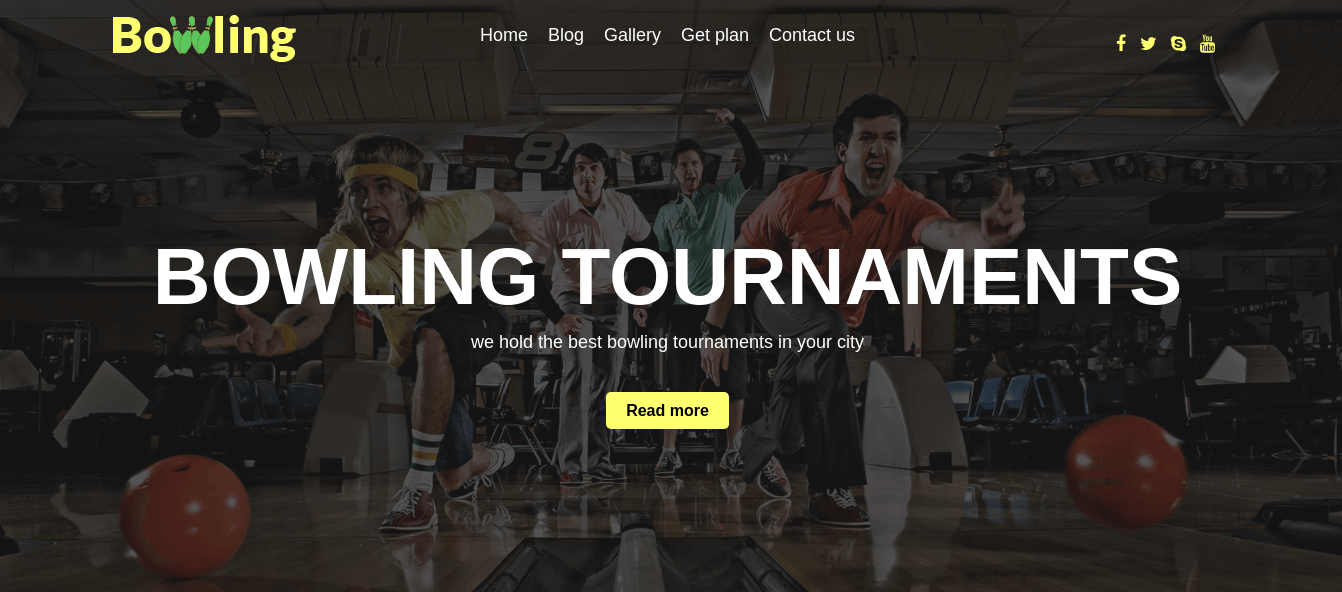 Free WordPress Theme Bowling Slider