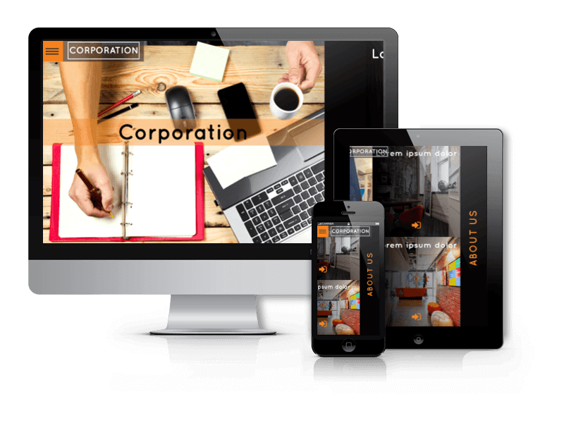 Corporation, creative WordPress theme